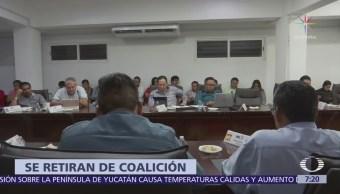 PVEM y Chiapas Unido se separan de la coalición 'Todos por Chiapas'