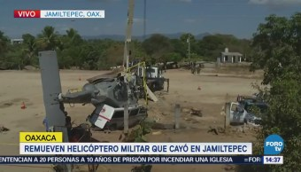 Remueven Helicóptero Militar Cayó Oaxaca