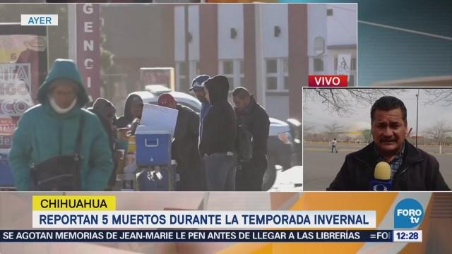 Reportan 5 muertos en Chihuahua durante actual temporada invernal