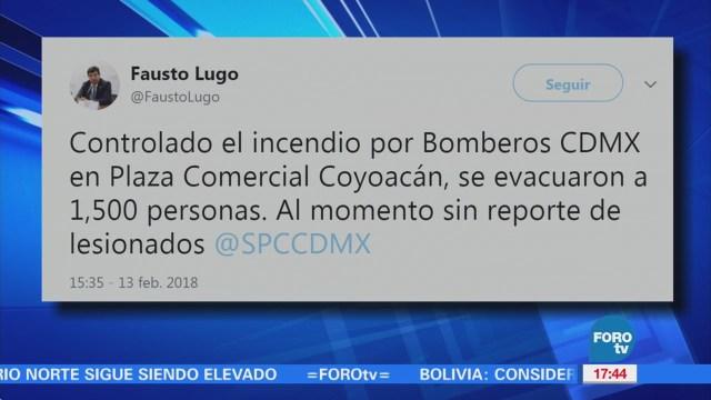 Reportan Conato Incendio Centro Coyoacán