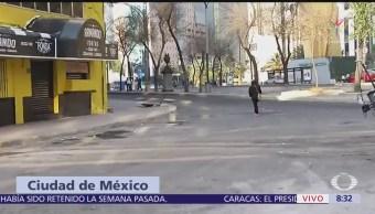 Reportan hundimientos en zona del socavón de calle Humboldt, CDMX