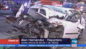 Retiran vehículo de Arcos de Belén y Doctor Vértiz, CDMX