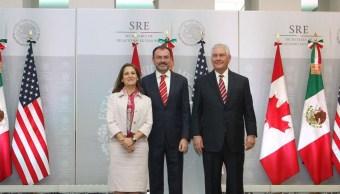 Videgaray, Tillerson y Freeland refrendan sociedad en comercio y seguridad