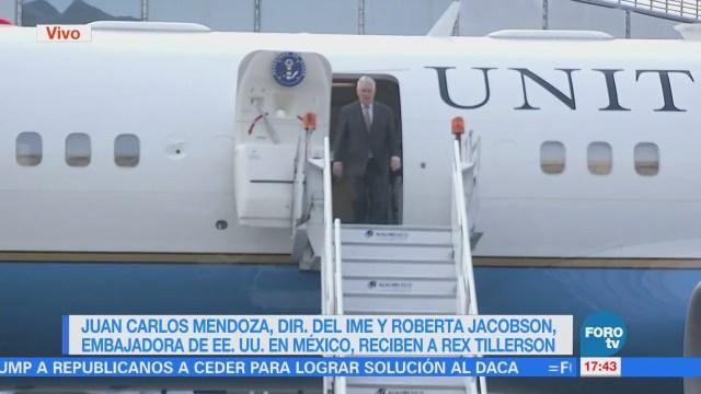 Rex Tillerson llega a México