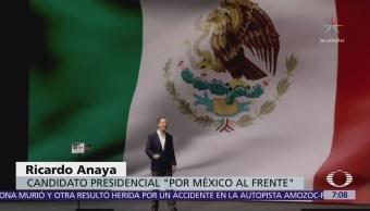 Ricardo Anaya rindió protesta como candidato presidencial de coalición 'Por México al Frente'