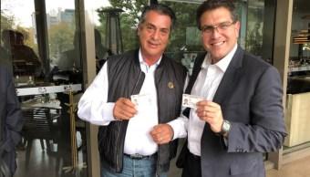 Se reúnen Armando Ríos Piter y Jaime Rodríguez Calderón