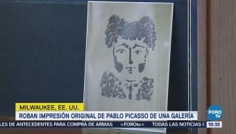 Roban una litografía de Pablo Picasso de una galería en Milwaukee