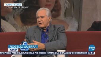 Rogelio Guerra no planeaba ser actor