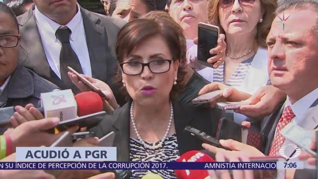 Rosario Robles Pide Pgr Actuar Contra Responsable Desvío Recursos Sedatu
