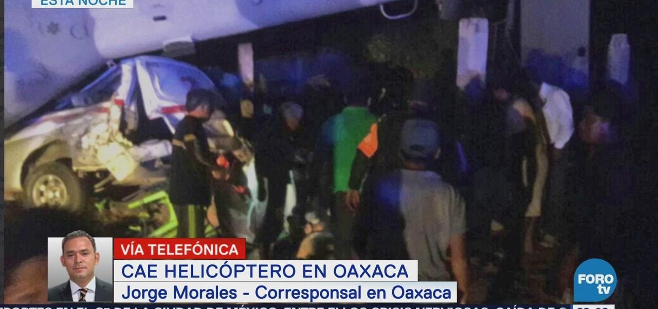 Se accidenta helicóptero en el que viajaba Navarrete Prida en Oaxaca