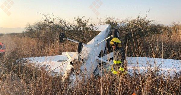 Reportan desplome de avioneta en Morelia