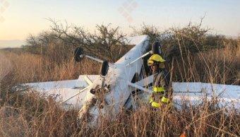 Se desploma avioneta cerca del aeropuerto de Michoacán