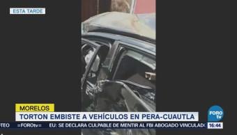 Registra Choque Múltiple Autopista Morelos