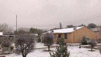 Se registran registran nevadas en Nogales y Cananea