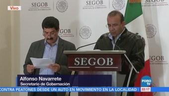 Segob firma convenio con gobernador de Chihuahua