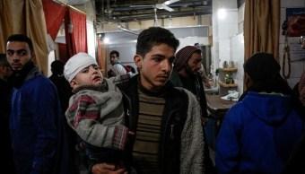 Bombardeos en Siria dejan casi 200 muertos, entre ellos 57 niños
