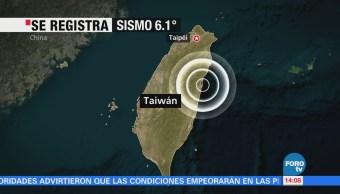Sismo de magnitud 6.1 sacude Taiwán
