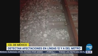 Sismo Magnitud 7.2 Provocó Daños Línea 12 Metro