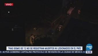 Sismo Magnitud 7.2 Sintió Fuerte Chiapas