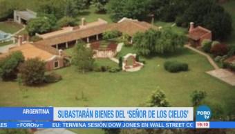 Subastan propiedades del 'señor de los cielos' en Argentina