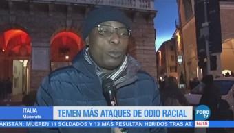 Temen más ataques de odio racial en Italia