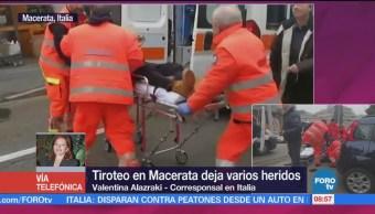 Tiroteo Macerata, Italia, Varios Heridos