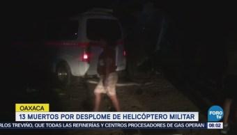 Trece Muertos Desplome Helicóptero Militar Oaxaca