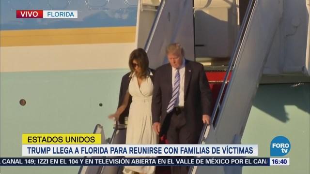 Trump Arriba Florida Reunirse Familiares Víctimas Tiroteo
