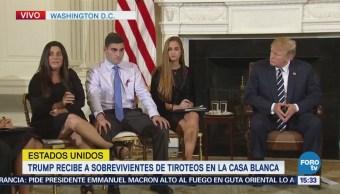 Trump habla con sobrevivientes de tiroteos en Estados Unidos