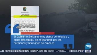 Venezuela Envía Condolencias México Desplome Helicóptero Militar Oaxaca