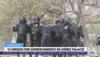 200 civiles se enfrentan con policías en Gómez Palacio, Durango