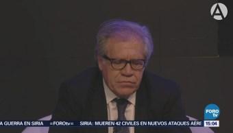 Secretario General Oea Habla Sobre Caso Anaya Luis Almagro