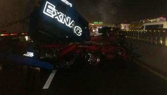 accidente en la autopista mexico puebla deja dos heridos