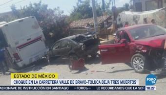 Accidente en Valle de Bravo deja dos muertos