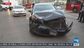Accidente vial complica la circulación en el Eje 1 Poniente