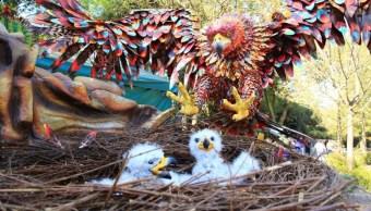 llegan mega alebrijes al zoologico de Chapultepec