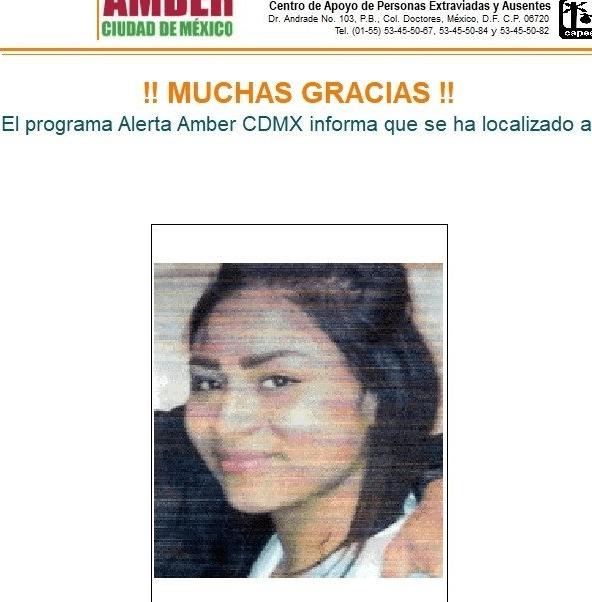 Desactivan Alerta Ámber por Karina Sharbell Miranda García