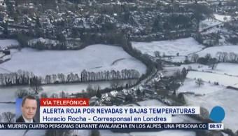 Alerta roja por nevadas y bajas temperaturas en Europa
