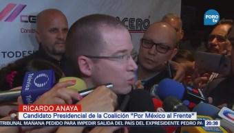 Anaya participa en Congreso Mexicano de la Industria de la Construcción