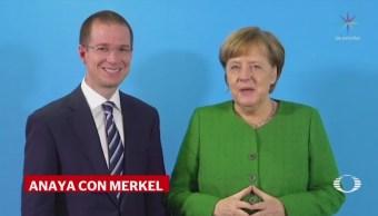 Anaya se reúne con Angela Merkel, en Alemania