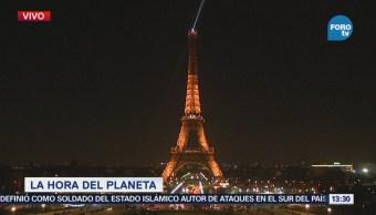 Apagan Luces Torre Eiffel Hora Del Planeta