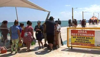 Quintana Roo instala arcos metálicos en terminales marítimas