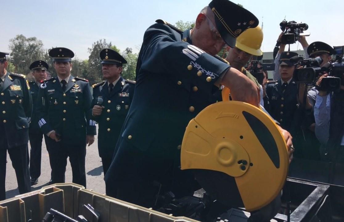 sedena destruye armas decomisadas crimen organizado