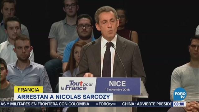 Arrestan a Nicolas Sarkozy