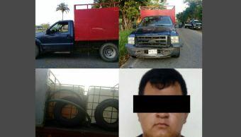 Aseguran en Tabasco tres mil litros de combustible