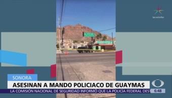 Asesinan al comandante de la Policía Municipal en Guaymas, Sonora