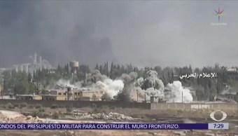 Ataque del régimen sobre suburbio de Damasco provoca desencuentro con Naciones Unidas