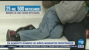 Aumenta número de niños migrantes repatriados