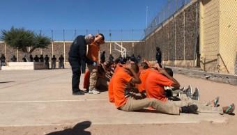 Autoridades federales catean penal de Ciudad Obregón, Sonora. (SSP Sonora)