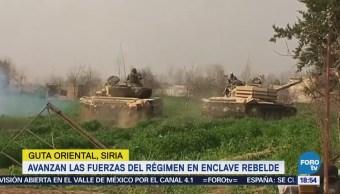 Avanzan las fuerzas del régimen en enclave rebelde en Guta Oriental